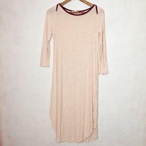 Anthropologie Pure + Good Long Pink Knit Dress